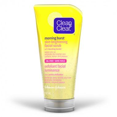 Clean clear skin brightening face scrub