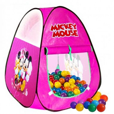 Zoom  sc 1 st  ShoppersBD & Mickey Mouse Classic Play Tent With 50 Soft Flex Balls DMT102
