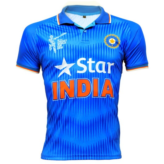 Icc Cricket World Cup 2015 India Team Jersey