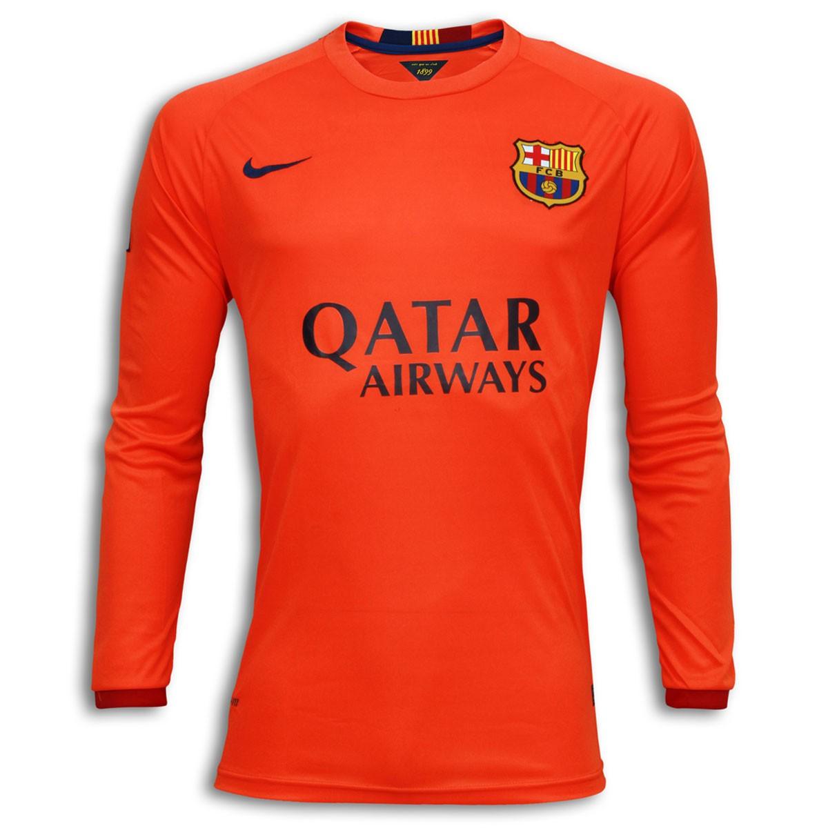 los angeles fe306 1b542 FC Barcelona Full Sleeve Away Shirt 2014-15