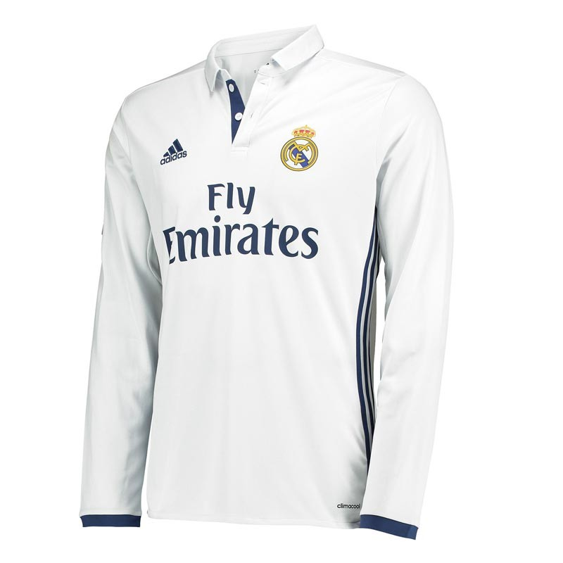 brand new 36e9b 7f29c Real Madrid Full Sleeve Home Jersey 2016-17