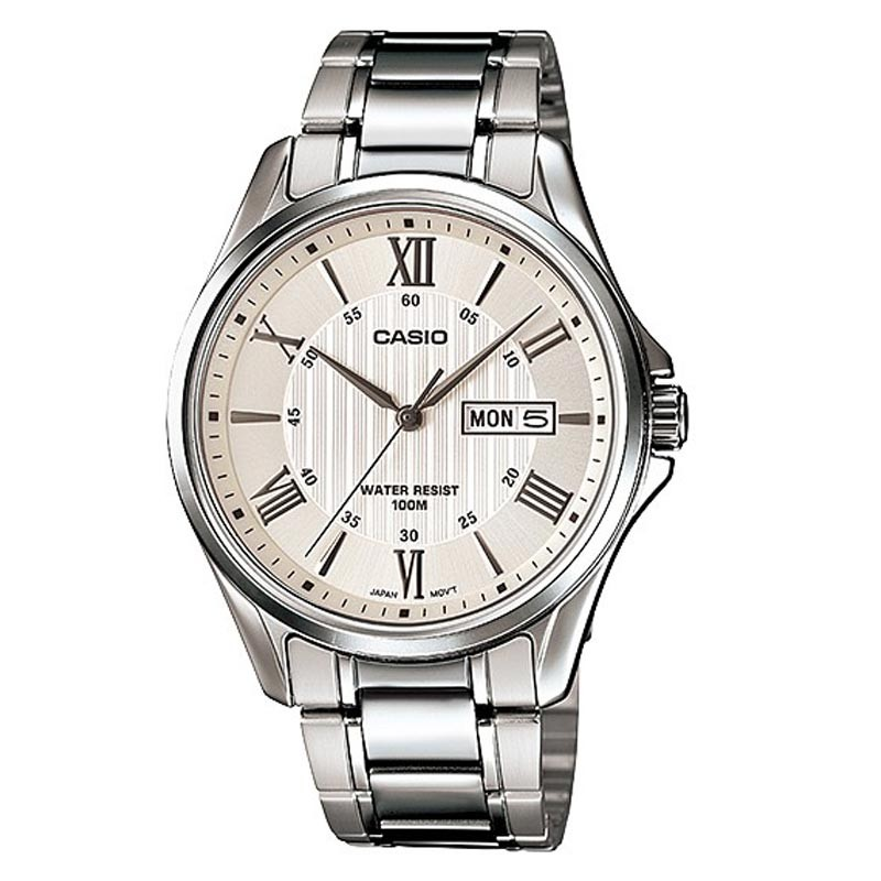 Casio White Dial Analog Watch Mtp 1384d 7avdf