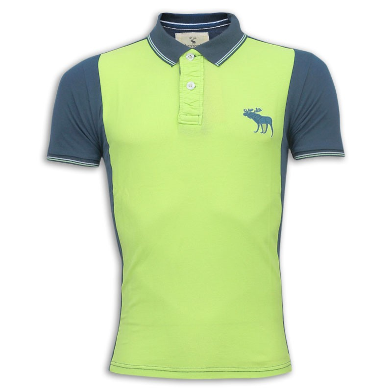 f831b9079 Abercrombie & Fitch Polo Shirt MH24P Lime Green & Black
