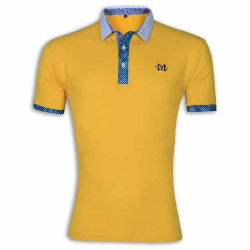 606e9f91 Stylish Polo Shirt YG07P Goldenrod
