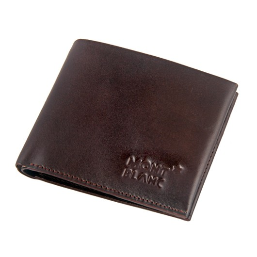 ebd887ec47e70 Mont Blanc Chocolate Men's Leather Wallet 1985