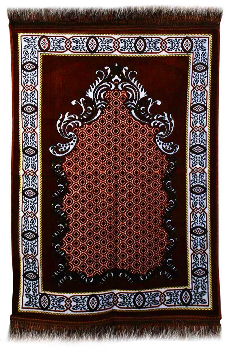 Aydin Janamaz Plush Velvet Muslim Prayer Rug From Turkey