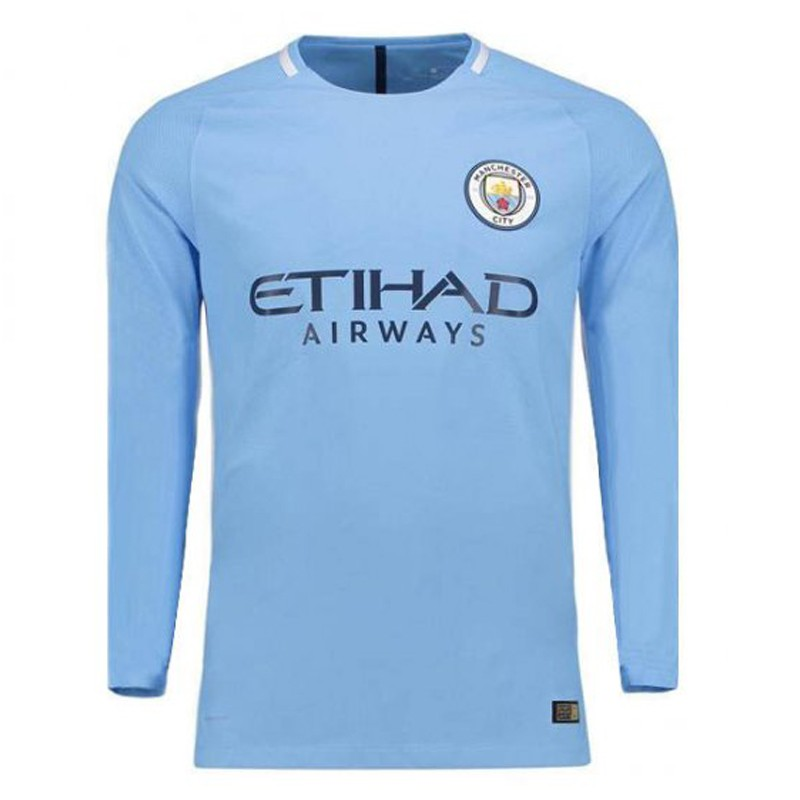 quality design f68b0 fa516 Manchester City Home Full Sleeve Away Jersey 2017-18