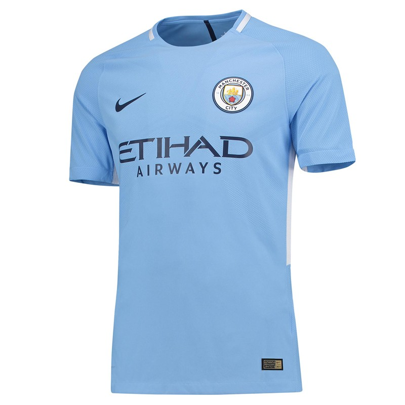 the latest dcd26 9226f Manchester City Home Half Sleeve Away Jersey 2017-18