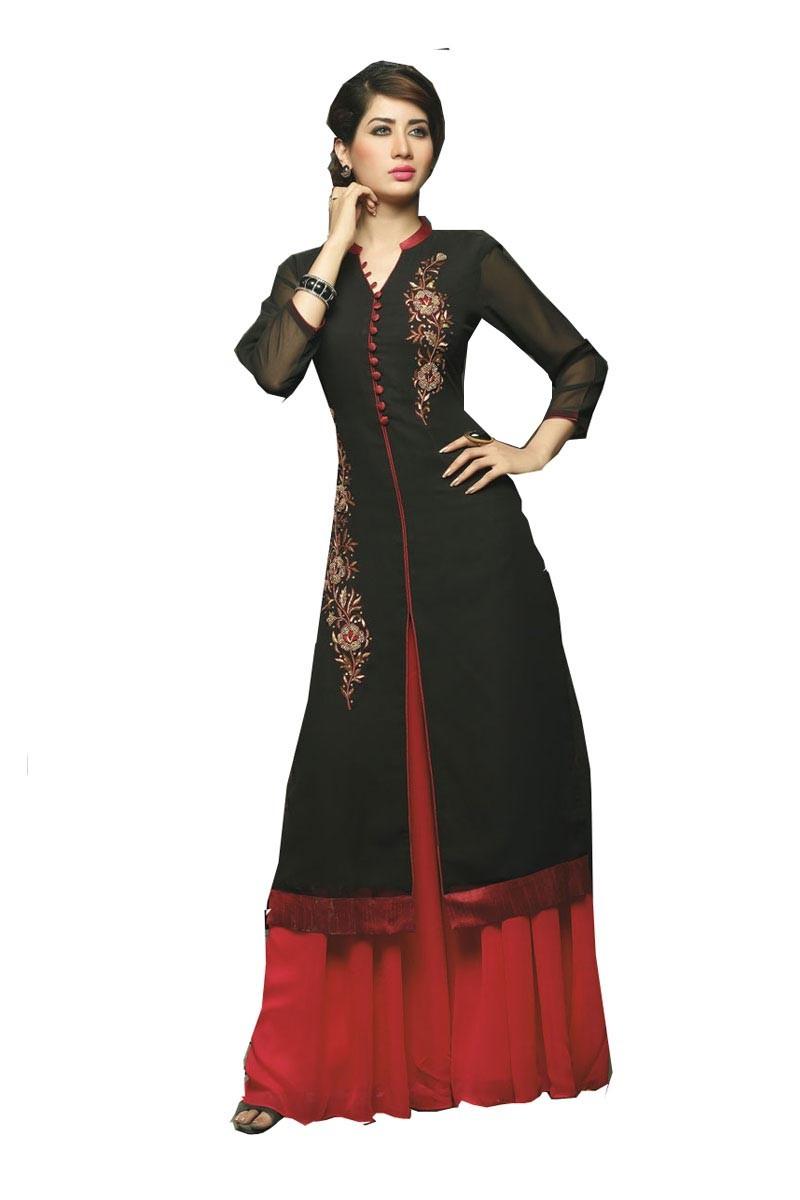 Exclusive Designer Ladies Gowns Black 2016