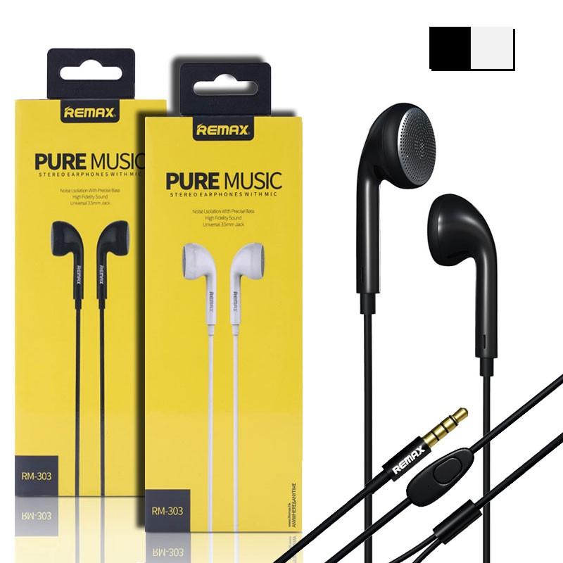 Original Remax Rm 303 Pure Music Surround Headset Black White