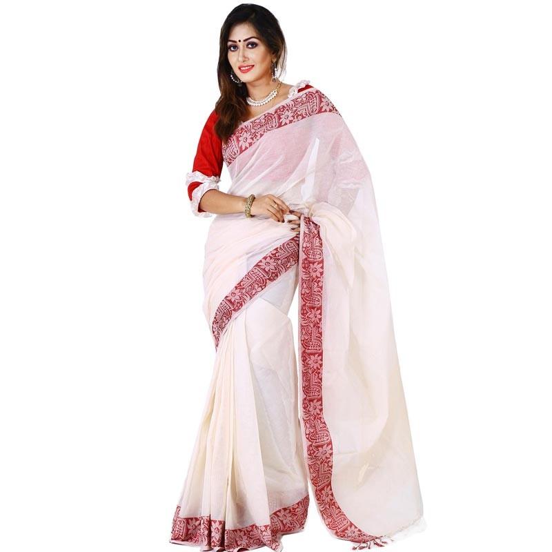 Pohela Boishakh Special Silk Saree Ssm106 Shoppersbd