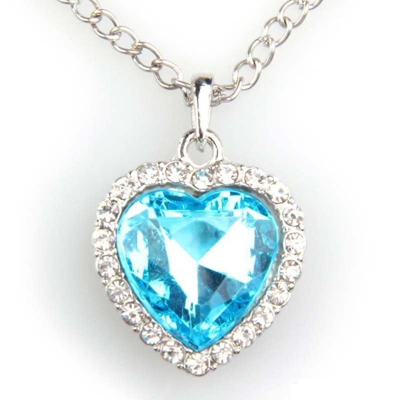 Heart of the ocean necklace titanic heart of the ocean necklace aloadofball Image collections