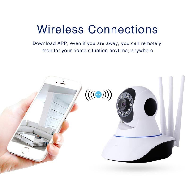 Home Security WiFi Camera IP 1080P HD with 3 Antennas