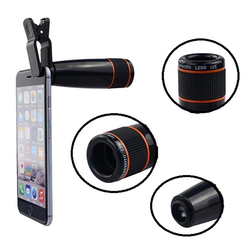 321ee9f63 Universal 12x Telephoto Zoom Camera Lens Plastic Body HCL152