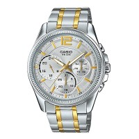 Casio Enticer Chronograph Two Tone Men's Watch MTP E305SG 9AVDF