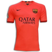 Nike FC Barcelona Away Shirt 2014 2015 Orange