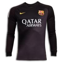 Nike Barcelona Home Goalkeepers Shirt 2014 - 2015 Black With Ash