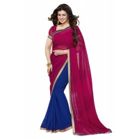 Fabulous Vinay Saree DO12 Burgundy Blue