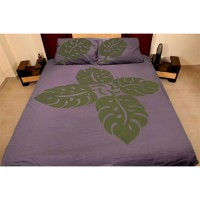 Applique( Cut Work) Bed Cover With Two Pillow Cover-004