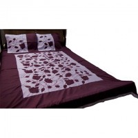 Black Nakshi Bed Cover Comes With Two Pillow Cover And One Cushion Cover