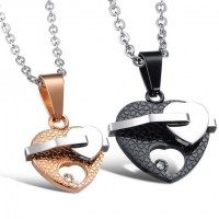 Titanium Necklaces Pendants Cute Necklaces For Couples