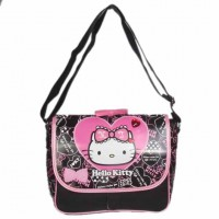 Hello Kitty Side Bag (Black)