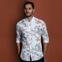 OBTAIN Premium Slim Fit Printed Casual Shirt OL5233