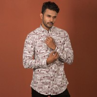 OBTAIN Premium Slim Fit Printed Casual Shirt OL5266