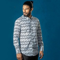 OBTAIN Premium Slim Fit Printed Casual Shirt OL5306