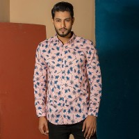 OBTAIN Premium Slim Fit Printed Casual Shirt OL5309
