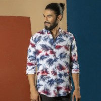 OBTAIN Premium Slim Fit Printed Casual Shirt OL5310