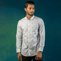 OBTAIN Premium Slim Fit Printed Casual Shirt OL5342