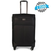 PRESIDENT 24 inch Hard Case Travel Luggage On 4-Wheels Suitcase Black PBL749