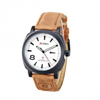 CURREN 8139 Men Military Watch White