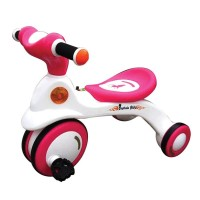ACI Premio Captain Bike With Music for Kids - White and Pink