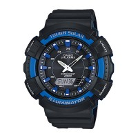 Casio Men's Black Dial Silicone Band Watch AD S800WH 2A2VDF