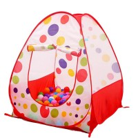 Children Ball Print Play Tent House With 50 Pit Ball  AJC171