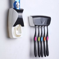 Touch me Automatic Toothpaste Dispenser & Toothbrush Holder
