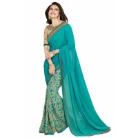 Vinay Star Walk Chiffon Georgette Saree With HTE Blouse  - SW41