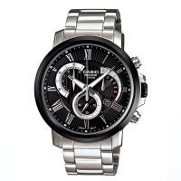 CASIO Men's Beside Silver-Tone Steel Bracelet Watch BEM 506CD 1AVDF