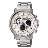 CASIO Men's Beside Silver-Tone Steel Bracelet Watch BEM 506D 7AVDF