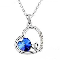 Heart Shape Blue Stone Locket