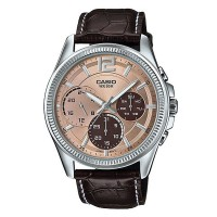 Casio Enticer Analog Brown Dial Women's Watch MTP E305L 5AVDF