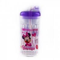 Disney Minnie Mouse Water Bottle Purple