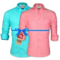 LAVELUX Premium Classic Fit Solid Cotton Formal Shirts : Combo 81