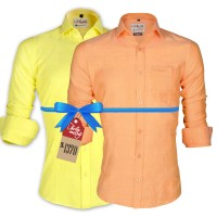 LAVELUX Premium Classic Fit Solid Cotton Formal Shirts : Combo 82
