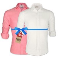 LAVELUX Premium Classic Fit Solid Cotton Formal Shirts : Combo 83