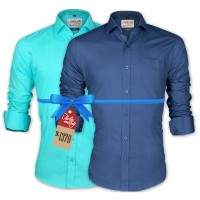 LAVELUX Premium Classic Fit Solid Cotton Formal Shirts : Combo 84