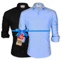 LAVELUX Premium Classic Fit Solid Cotton Formal Shirts : Combo 85