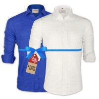 LAVELUX Premium Classic Fit Solid Cotton Formal Shirts : Combo 86